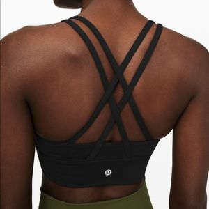 Lululemon energy bra long line, in black, size 6